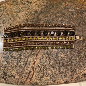 J. Crew 10 Strand Rhinestone Bracelet